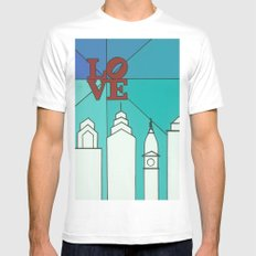 LOVE shine SMALL Mens Fitted Tee White