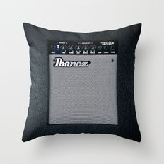 Retro Black guitar electric amplifier iPhone 4 4s 5 5s 5c, ipad, mugs, tshirt and pillow case Throw Pillow