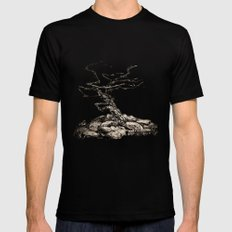 BRISTLECONE PINE Black Mens Fitted Tee SMALL