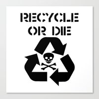 Recycle Black Canvas Print