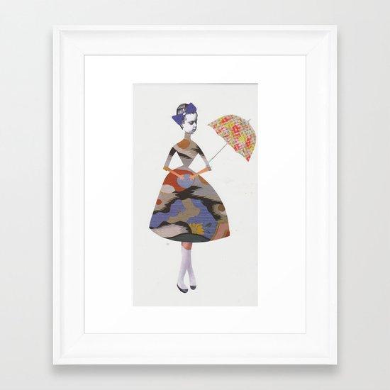Miss Alice in wonderland  Framed Art Print