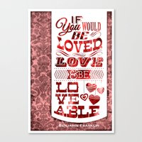 To Be Loved Canvas Print