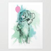 Friendly Bear Art Print