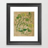 Flower Machine Framed Art Print