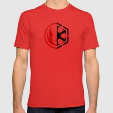 The Dark and The Light Mens Fitted Tee Red SMALL