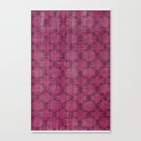 Overdyed Rug 1 Crushed B… Canvas Print