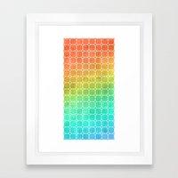 Rainbow Pattern #1 Framed Art Print