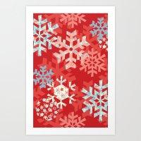 Snowflake Dream Art Print