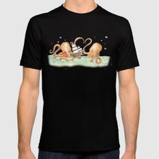 Octopus Valentine  Mens Fitted Tee SMALL Black