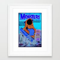 Urbnpop Famous Monsters Framed Art Print