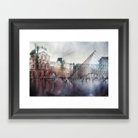 Le Louvre - Paris - Wate… Framed Art Print