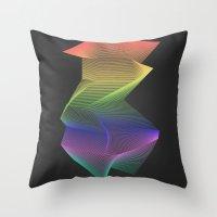 Angular Rainbow Throw Pillow
