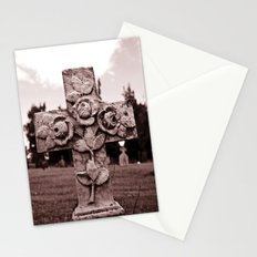 Cross of roses Stationery Cards