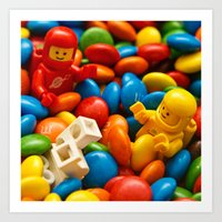 The Planet Of M&M's Art Print