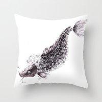 Koi Throw Pillow