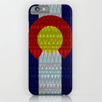 iPhone & iPod Case featuring Colorado Flag/Geometric by Stolen Milk