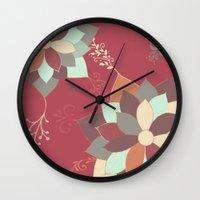 Morrocan Flowers Wall Clock