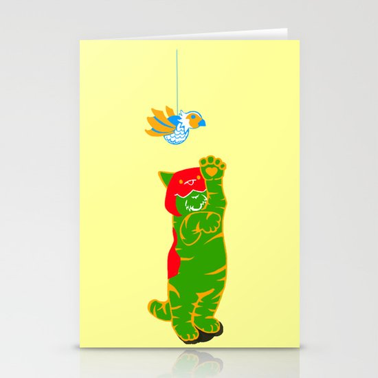 Here Battle Kitty Kitty Stationery Card