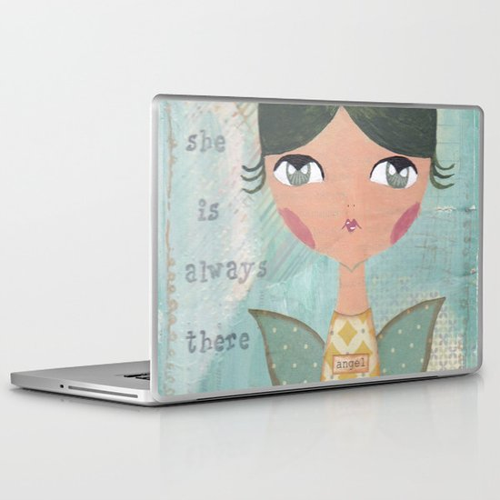 She is always there for you Laptop & iPad Skin