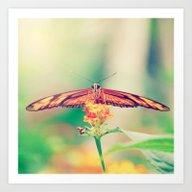 Butterfly Retro Art Print