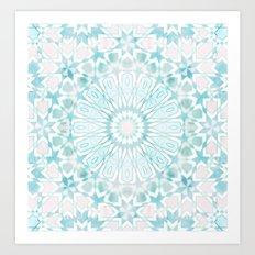 Fez Moroccan Tiles {4E} Art Print