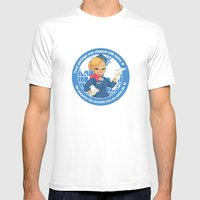 AIR MAIL  Mens Fitted Tee White SMALL
