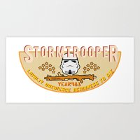 Stormtrooper College Tee Art Print