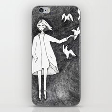 Fly with birds iPhone & iPod Skin