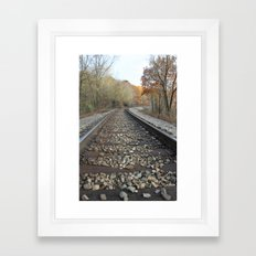 Walking The Railroad Tracks Framed Art Print