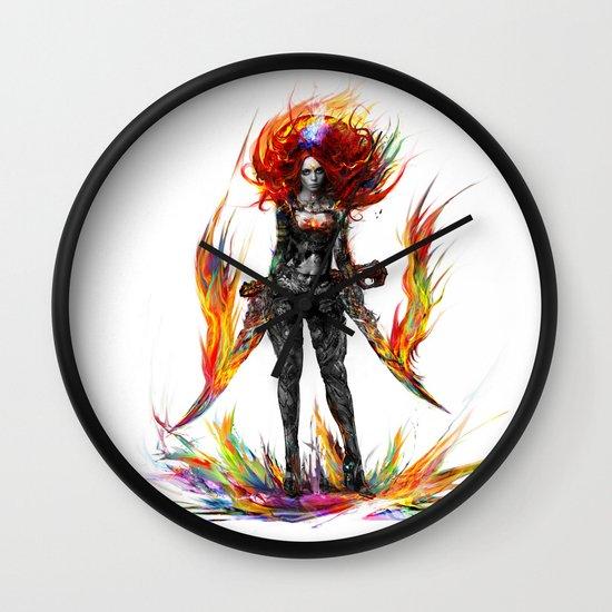 color attack Wall Clock
