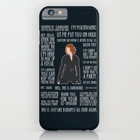 iPhone Cases featuring Black Widow by MacGuffin Designs