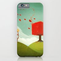 iPhone & iPod Case featuring Red Tree by Ellen Su