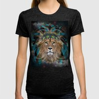 Fight For What You Love (Chief of Dreams: Lion) Tribe Series Womens Fitted Tee Tri-Black SMALL