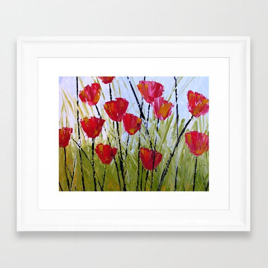Little Reds Framed Art Print