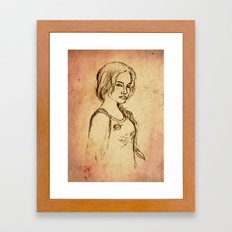 Katniss - Portrait Framed Art Print