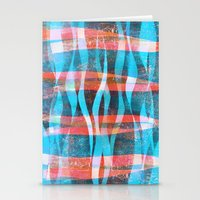 'Flames' block print and digital design. Stationery Cards