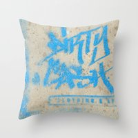 DIRTY CASH - TAGGING STREETART MIAMI by Jay Hops Throw Pillow