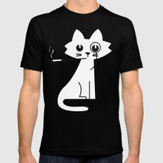Mark - Aristo-Cat SMALL Black Mens Fitted Tee
