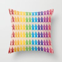 Rainbow King Bear Throw Pillow