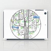 happy tree (black and green) iPad Case