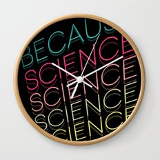 Because Science Wall Clock