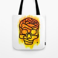 Skull Rose Tote Bag