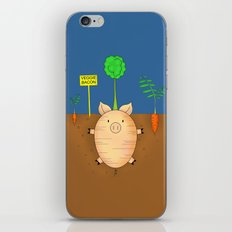 Veggie bacon iPhone & iPod Skin