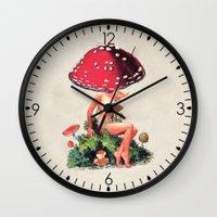 Shroom Girl Wall Clock