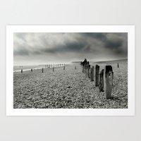 On Winchelsea Beach Art Print