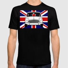 Classic Mini. Black SMALL Mens Fitted Tee
