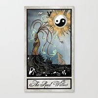 The Red Willow Tarot Canvas Print