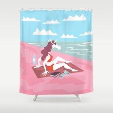 Fun In Sun Unicorn Shower Curtain