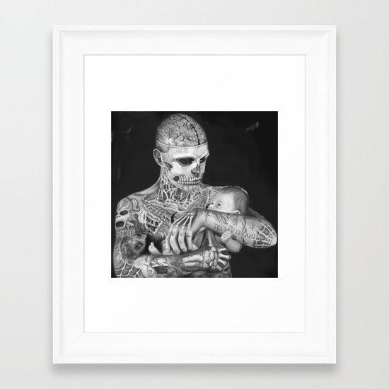 ZOMBIE BOY Framed Art Print