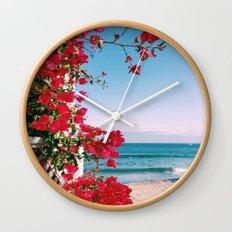 Flower Water Wall Clock